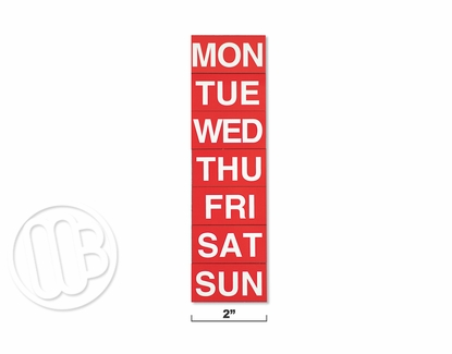 Day Magnets White on Red Background