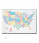 Dry Erase Map of the USA