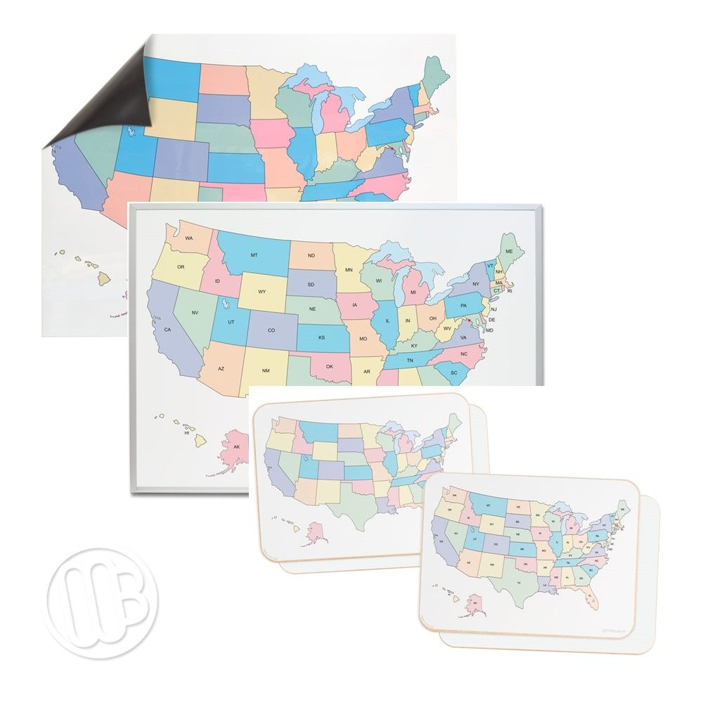 Printed Dry Erase USA Maps on travel map, rainbow map, magnetic map, butterfly map, disney map, peel stick wall map, stars map, halloween map, dry line map, metal map,