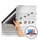 Dry Erase Music Staff Magnets