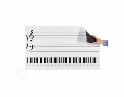 Dry Erase Piano Keyboard Grand Staff Magnet