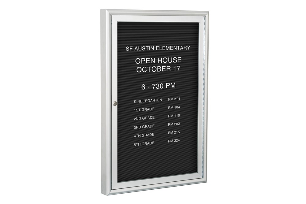 Enclosed Letter Boards With Acrylic Windows