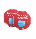 "Face Mask Required Wall or Floor Sign, 6"" x 6"""