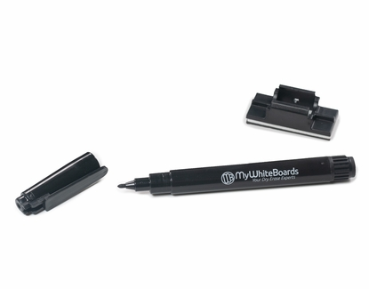 Fine Point Dry Erase Marker with Peel-n-Stick Clip