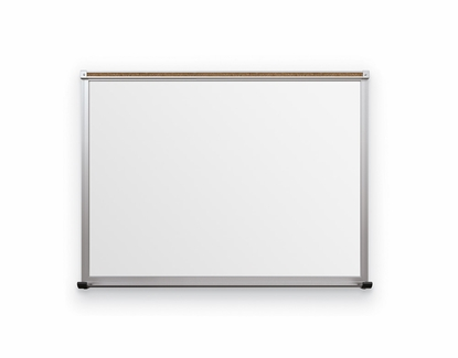 Framed Magnetic Glass Dry Erase Whiteboard 3' High x 4' Wide Gloss White