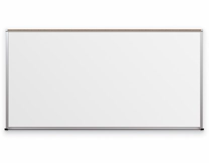 Framed Magnetic Glass Dry Erase Whiteboard 4' High x 8' Wide Gloss White