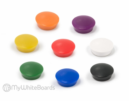Glass Board Button Magnets Green