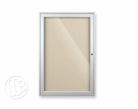 Glass Enclosed Fabric Bulletin Board