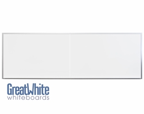 Great White Magnetic Whiteboards 2 Piece 4' x 12'