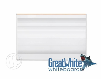 4' x 10' Great White® Music with Map Rail