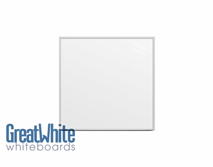 Great White® Magnetic Whiteboards 4' Tall x 4' W