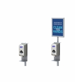 Hand Sanitizer Dispenser Stand, Square Base