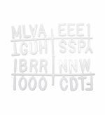 Helvetica Letters - Sprue Sets