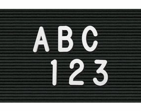 Helvetica Plastic Letters & Numbers in Boxed Sets