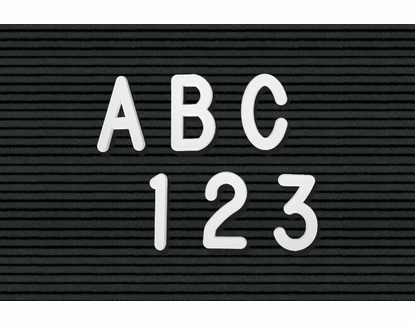Helvetica Plastic Letters & Numbers in Boxed Sets 3 Inch