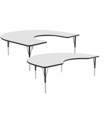Horseshoe Dry Erase Activity Tables, Whiteboard Surface