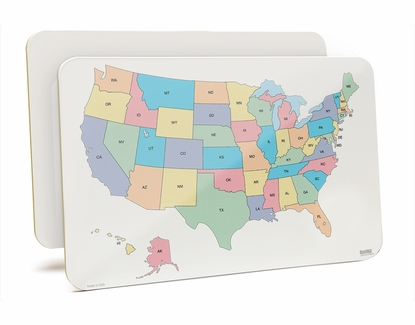 U.S. Lap Board 11x17 With States