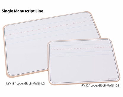 Lap Boards with Manuscript Lines 9x12 Single Manuscript