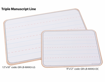 Lap Boards with Manuscript Lines 9x12 Triple Manuscript