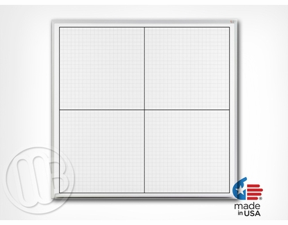Large XY Grid Boards 4' Tall x 4' W Non-Magnetic