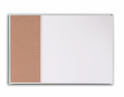 Magnetic Cork Whiteboard 4' x 6' with Tray