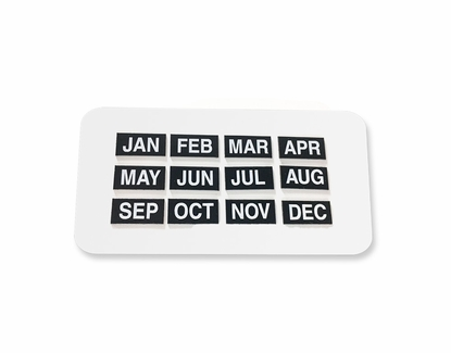 Magnetic Headings Months Set of 12