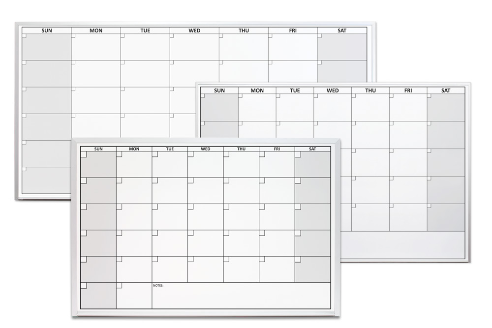 One Month Dry Erase Calendars Magnetic