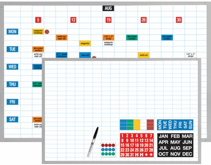 "Magnetic Planning Kit  Write-On / Wipe-Off Magnets 48"" x 72"" Kit"