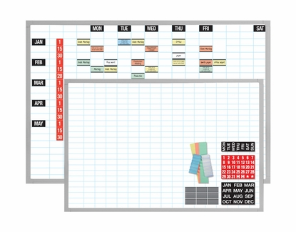 """Magnetic Planning Kits with Data Cards 48"""" x 72"""" 1x2 Grid"""