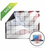 Magnetic Refrigerator Calendar with Flag