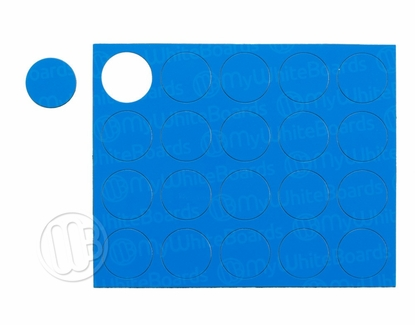 "Magnetic Shapes 3/4"" Circles Blue"