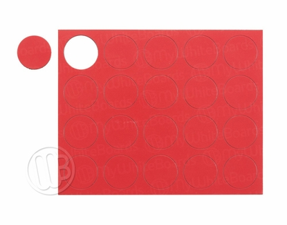 """Magnetic Shapes 3/4"""" Circles Red"""