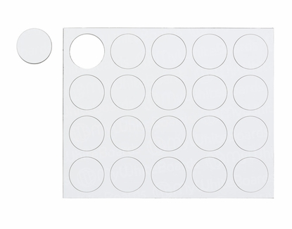 """Magnetic Shapes 3/4"""" Circles White"""
