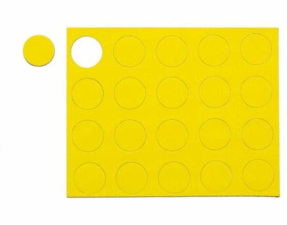 "Magnetic Shapes 3/4"" Circles Yellow"