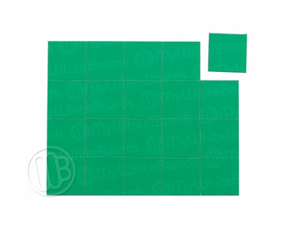 "Magnetic Shapes 3/4"" Squares Green"