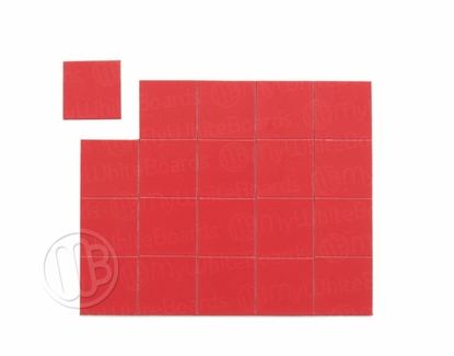 "Magnetic Shapes 3/4"" Squares Red"