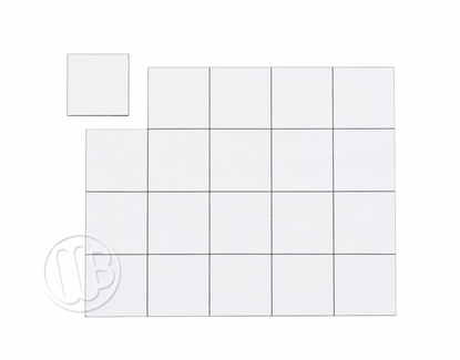 """Magnetic Shapes 3/4"""" Squares White"""