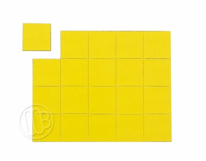 "Magnetic Shapes 3/4"" Squares Yellow"