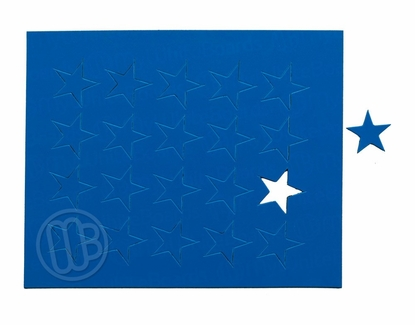 "Magnetic Shapes 3/4"" Stars Blue"