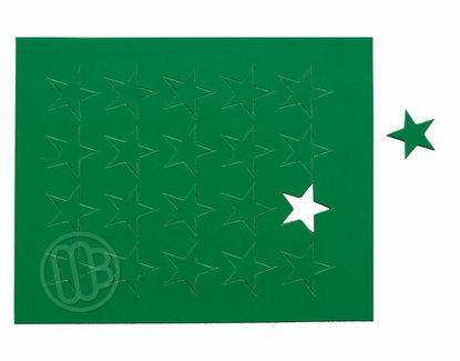 """Magnetic Shapes 3/4"""" Stars Green"""