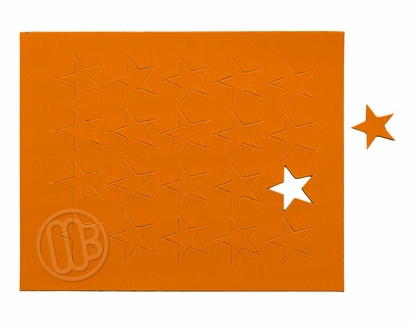 "Magnetic Shapes 3/4"" Stars Orange"