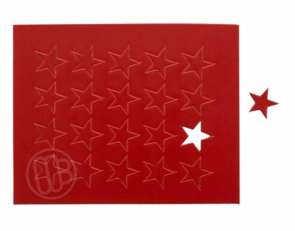 """Magnetic Shapes 3/4"""" Stars Red"""