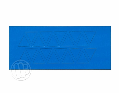 "Magnetic Shapes 3/4"" Triangles Blue"