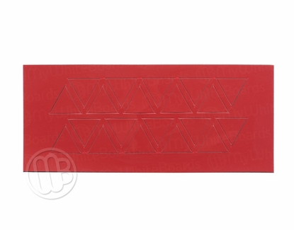 """Magnetic Shapes 3/4"""" Triangles Red"""