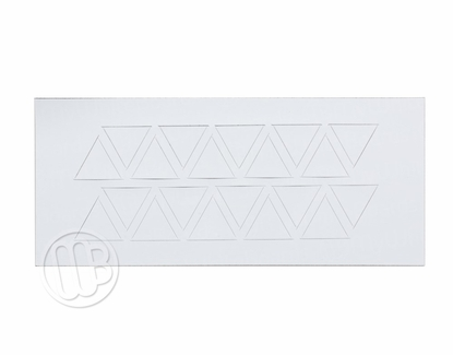 """Magnetic Shapes 3/4"""" Triangles White"""