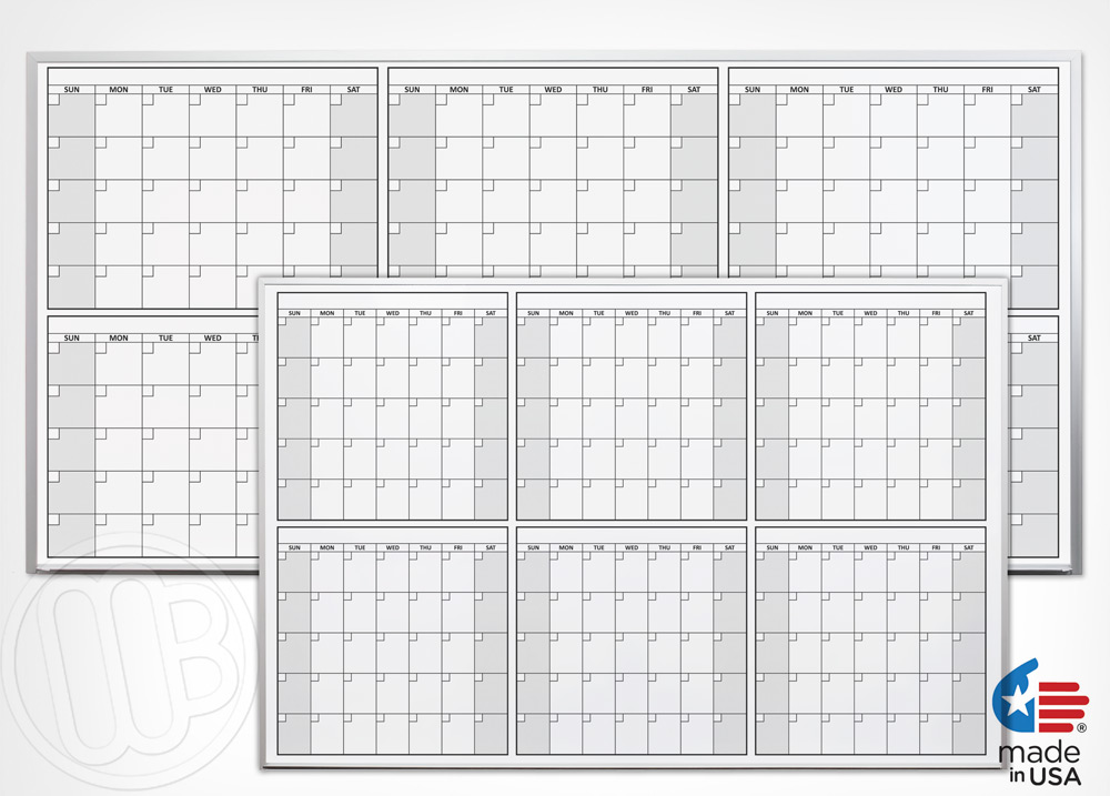 Magnetic Six Month Or Half Year Dry Erase Calendar