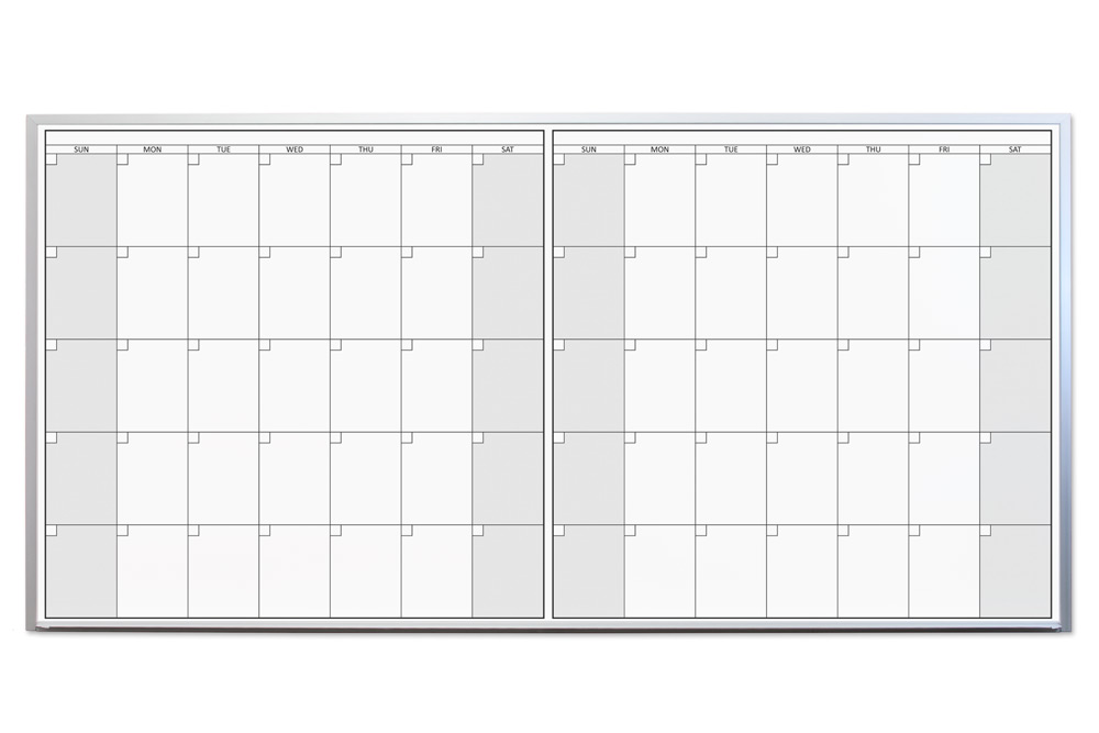 magnetic two month dry erase calendars