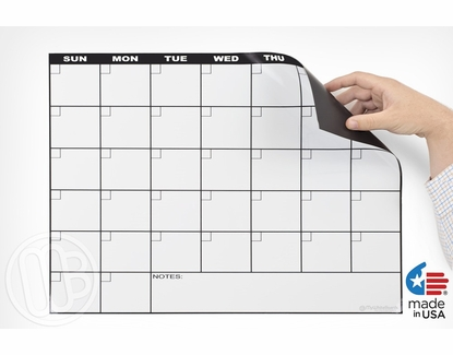 Monthly Magnetic Refrigerator Calendar Calendar with Pink Wiper Kit