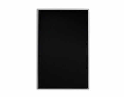 "Night Vision Black Dry Erase 24"" Tall x 36"" W /No Tray"