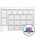 Non-Magnetic 12 Month Dry Erase Calendars